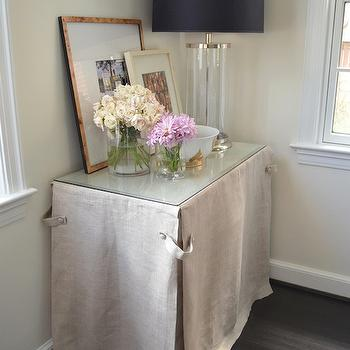 Skirted Console Table, Transitional, living room, One Story Building
