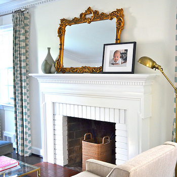 Fireplace Mirror, Contemporary, living room, One Story Building