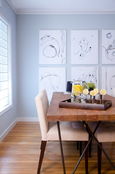 View Full Size. Pale Blue Dining Room Walls ...