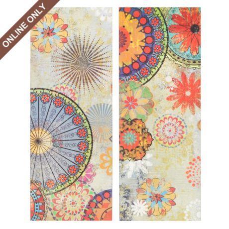 kaleidoscope floral canvas art print set of 2 at kirkland s