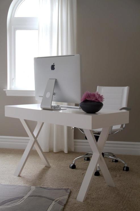 White Lacquer Desk - Contemporary - den/library/office - A.S.D. ...