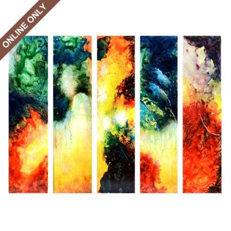 Abstract Venezia Canvas Painting, Set of 5 at Kirkland\'s