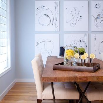 Reclaimed Wood Dining Table, Contemporary, dining room, A.S.D. Interiors