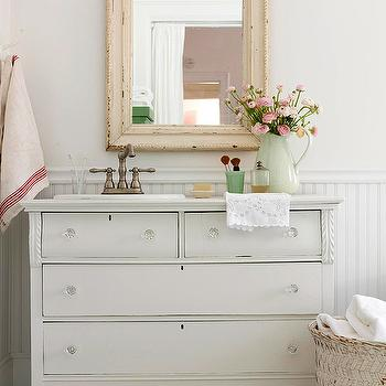 Shabby Chic Washstand, Cottage, bathroom, BHG