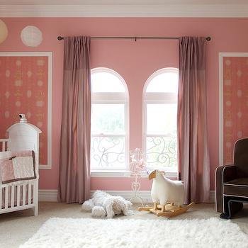 Pink Curtains, Traditional, nursery, A.S.D. Interiors