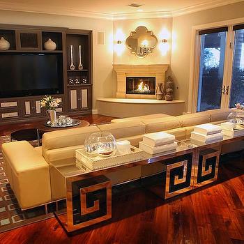 Greek Key Table, Eclectic, living room, A.S.D. Interiors