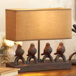 Lighting birds in a row table lamp rsh catalog mozeypictures Choice Image