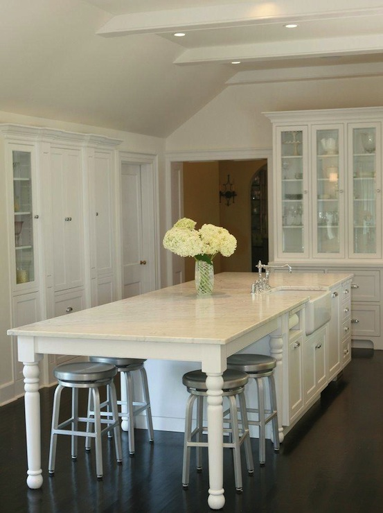 Long Kitchen Island Traditional Kitchen West End Cabinet Company