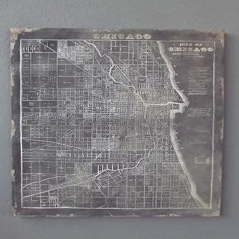 Map Of Chicago Wall Plaque Unframed Art Wall Decor