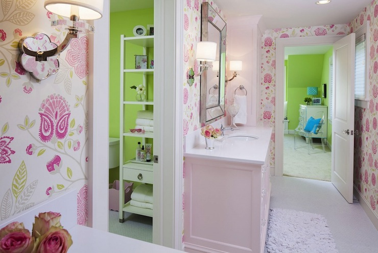 Pink bathroom design ideas for Bathroom decor ideas for girls