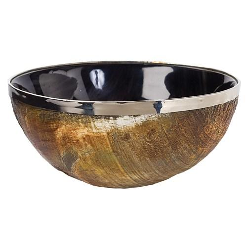 Regina Andrew Polished Horn U0026 Brass Bowl   Zinc Door