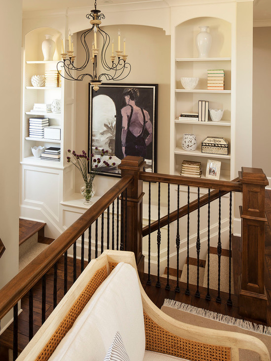 Staircase Built Ins Traditional Entrance Foyer