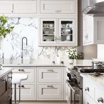 Cream Kitchen Cabinets, Transitional, kitchen, Martin Moore & Company