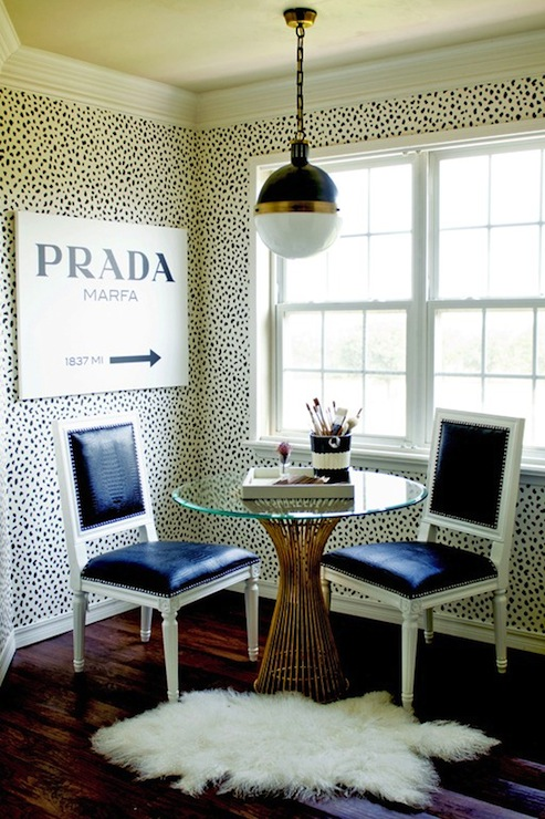 Faux Alligator Chairs - - Contemporary - dining room - Tiffany ...
