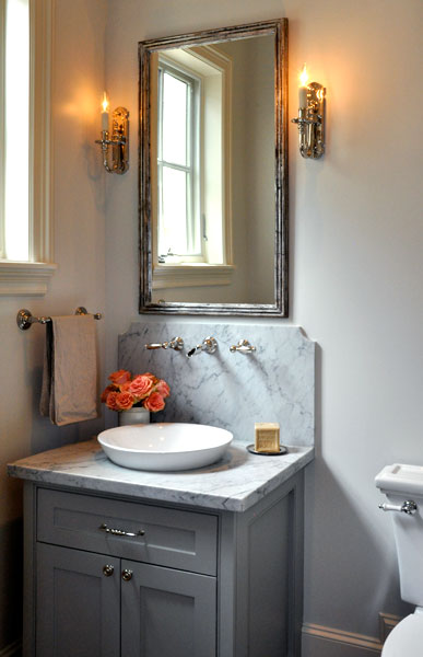 Gray Bathroom Vanity Transitional Bathroom Luxe
