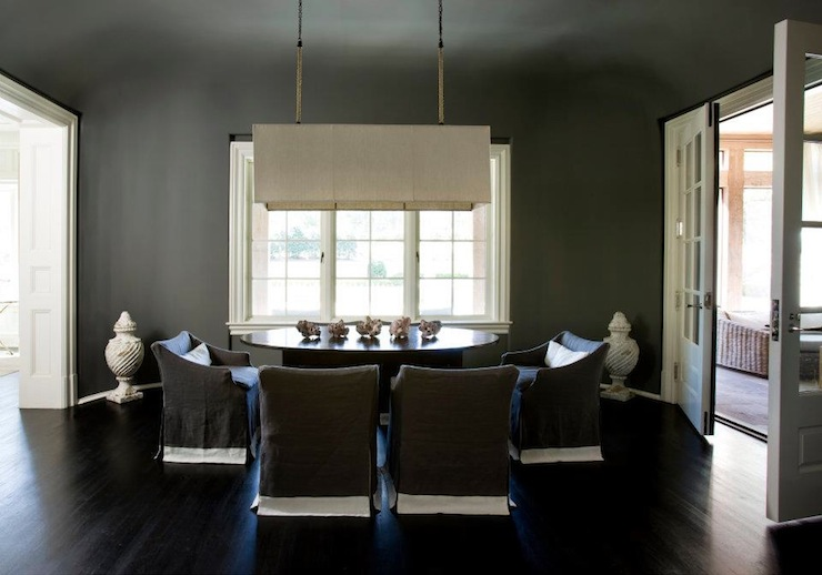 Gray Dining Room Walls Design Ideas