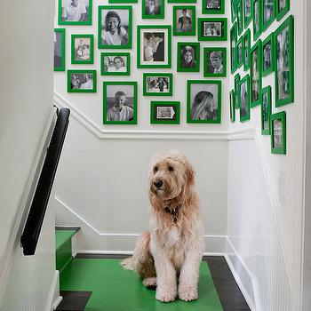 Stairwell Photo Wall, Contemporary, entrance/foyer, Melanie Turner Interiors