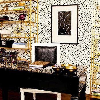 Black And Gold Office Design Decor Photos Pictures