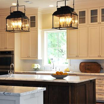Iron Kitchen Island Lanterns, Traditional, kitchen, Luxe Living Interiors