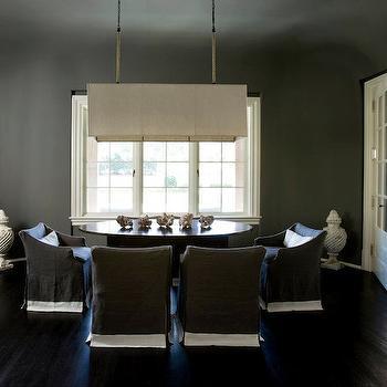 Gray Dining Room, Contemporary, dining room, Melanie Turner Interiors