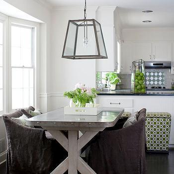 Trestle DiningTable, Transitional, dining room, Melanie Turner Interiors