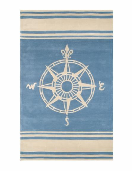 Delightful Classic Compass Rug   Rosenberry Rooms