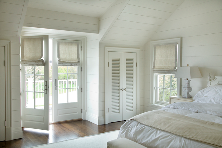 Bedroom French Doors Cottage Bedroom Barbara Waltman Design