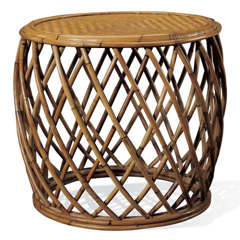 Jesse Wicker Storage Coffee Table - All weather wicker side table