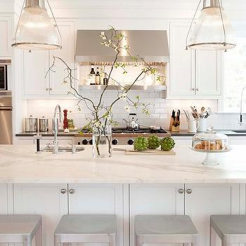 White Shaker Cabinets, Transitional, kitchen, Papyrus Home Design