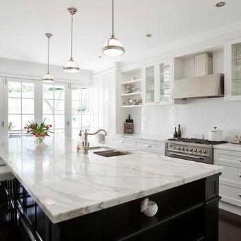 Calcutta Marble Countertop, Transitional, kitchen, Porchlight Interiors