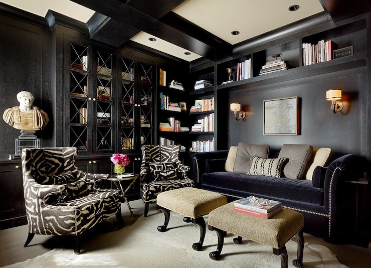 black living room transitional living room candace cavanaugh