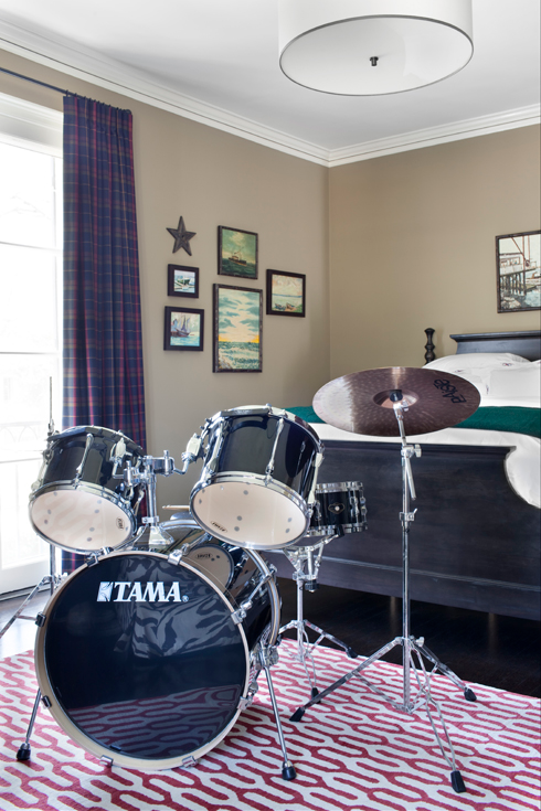 Boy S Drum Set Contemporary Boy S Room Burnham Design