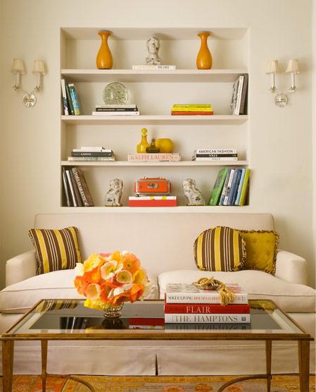 Shelves Over Sofa
