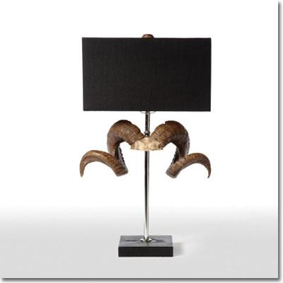 Captivating Ram Horn Table Lamp   Pfeifer Studio