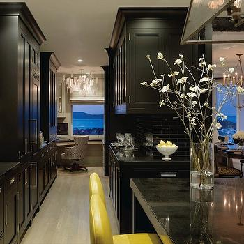 Black and Yellow kItchen, Contemporary, kitchen, Candace Cavanaugh Interiors