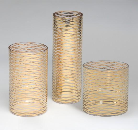 Nate Berkus Gold Facet Vase I Target