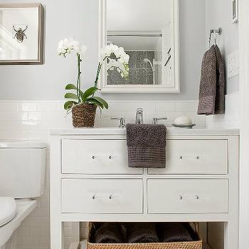 Restoration Hardware Washstand, Transitional, bathroom, Lovejoy Designs