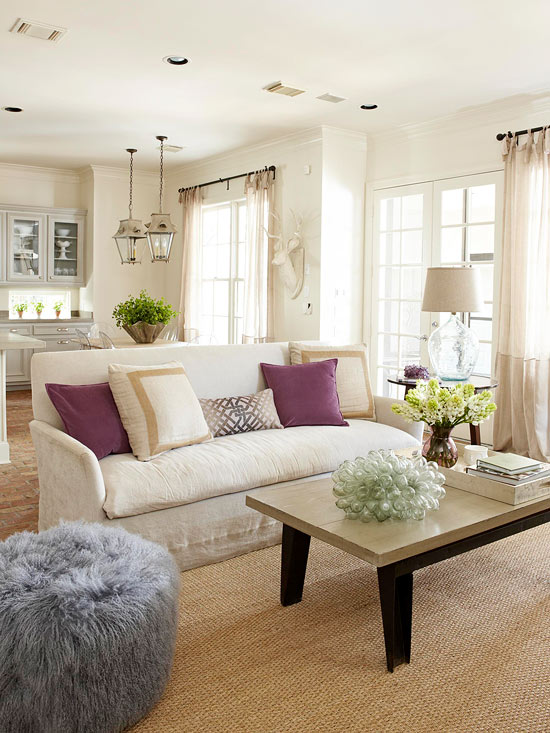 Superieur ... Living Rooms · ». Mohair Pouf
