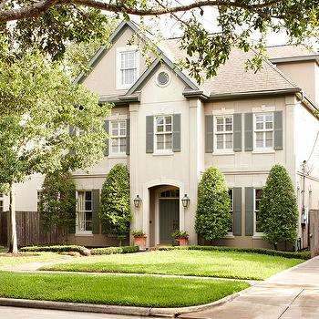 Gray Shutters, Cottage, home exterior, BHG