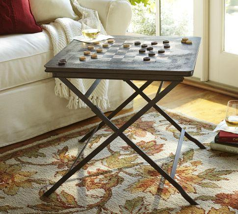 Carter Game Side Table   Pottery Barn
