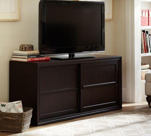 & Winslow Media Stand with Wood Doors - Pottery Barn