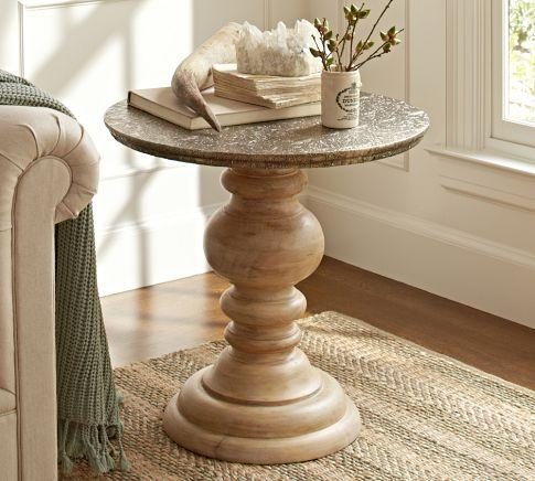 Lillie Pedestal Accent Table Pottery Barn