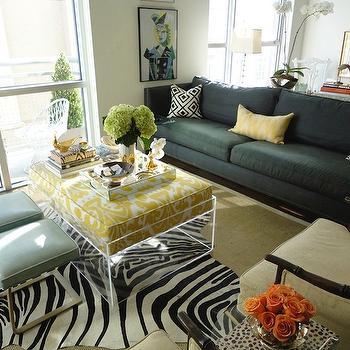 Lucite Coffee Table, Contemporary, living room, La Dolce Vita