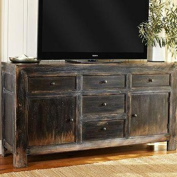 Hutton Black Wood Cabinet