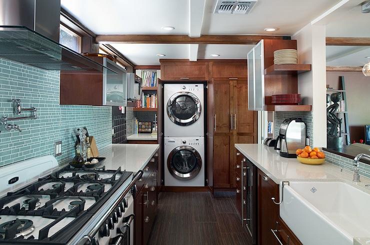Hidden Washer and Dryer  Contemporary  kitchen  EMI Interiors