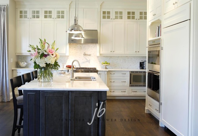 2 Tone Kitchen Transitional Kitchen Jennifer Brouwer Design