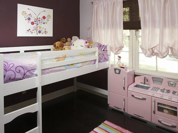 Pink and Brown Girls Room