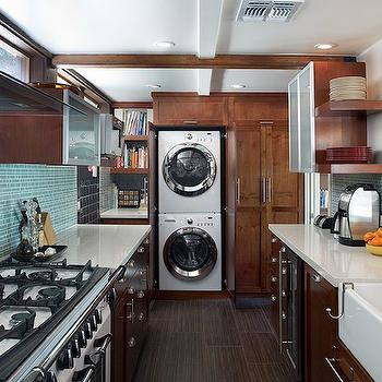 Frosted Glass Laundry Cabinets Design Ideas