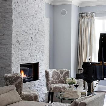 White stone fireplaces design ideas blue and gray living room teraionfo