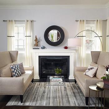 Wingback Sofas, Contemporary, living room, EMI Interiors
